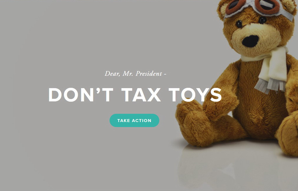Don't tax toys